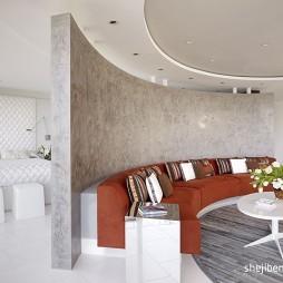 现代客厅卧室隔断装修效果图