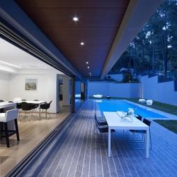 现代户外休闲区家具设计装修效果图