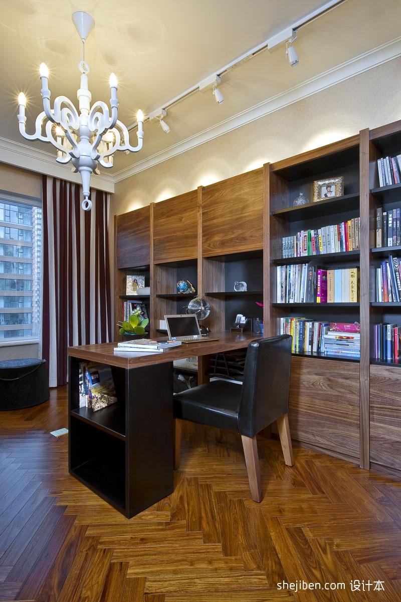 生活资讯_2017新古典风格最新80后书房书柜吊灯装修效果图 – 设计本装修 ...