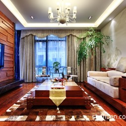 混搭客厅实木家具装修效果图片