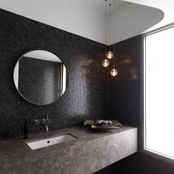 现代风格别墅卫生间马赛克瓷砖墙面装修效果图片