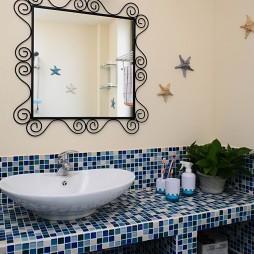 地中海风格个性时尚卫生间马赛克瓷砖装修效果图片