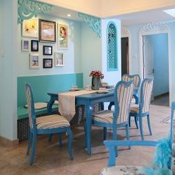 宝安深业新岸线温馨地中海风格餐厅背景墙装修效果图