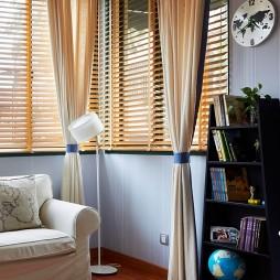 镇江馨海家园独栋室内设计卧室飘窗窗帘装修效果图