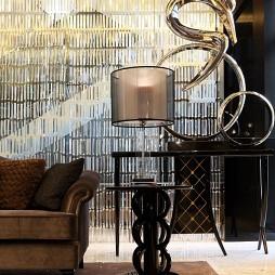 银线景峰混搭客厅装饰小茶几装修效果图