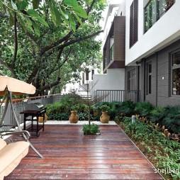 东南亚风格别墅楼台花园椅子装修效果图片