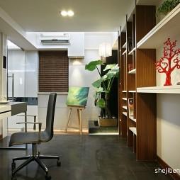 2017现代风格三室一厅最新家庭书房装修效果图