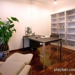 2017现代风格三室一厅最新简约书房书柜装修效果图