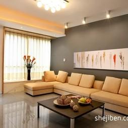 现代客厅挂画背景墙装修效果图片