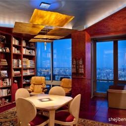 现代风格书房窗台飘窗装修效果图片