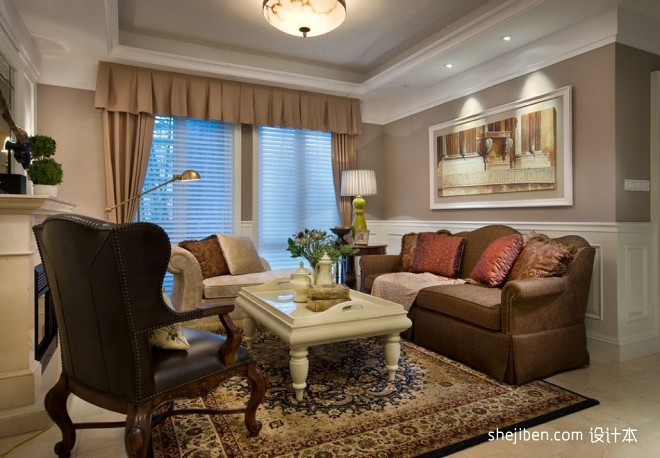 绍兴信达银郡售楼厅及样板房客厅家具装