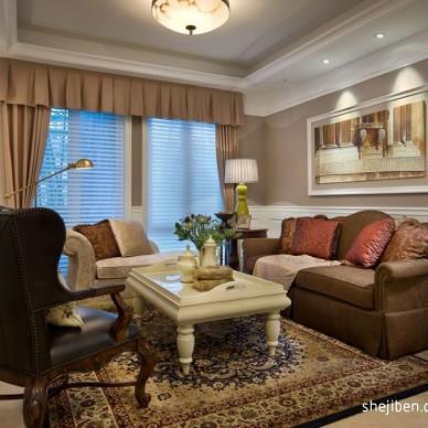 绍兴信达银郡售楼厅及样板房客厅家具装修效果图