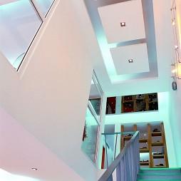 2017现代风格复式楼高档豪华楼梯扶手装修效果图片