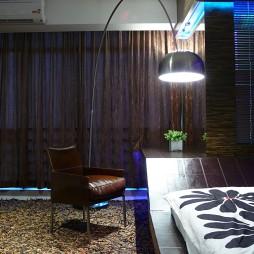 现代客厅卧室飘窗窗帘装修效果图