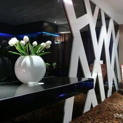 西安带客厅电视背景墙带休闲椅装修效果图