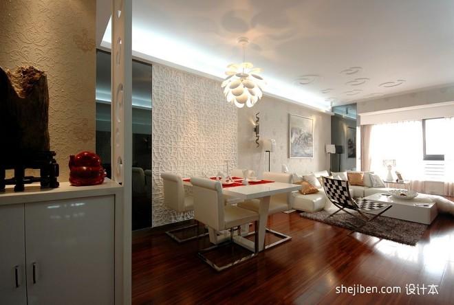 浪漫和艺术的相遇现代客厅玄关柜子装修