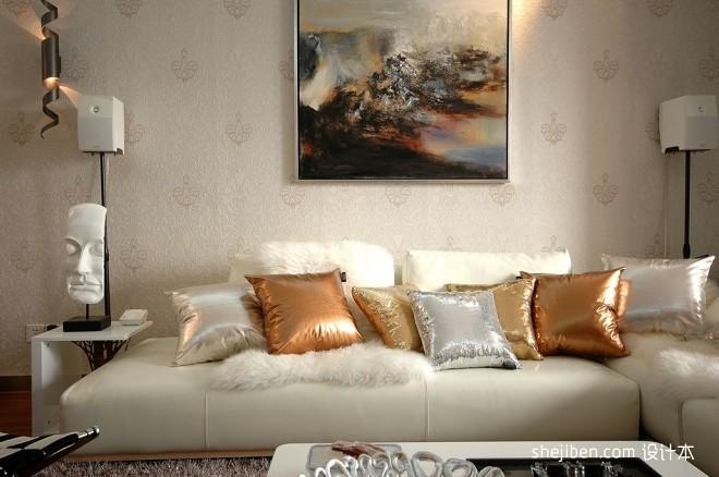 浪漫和艺术的相遇客厅艺术手绘挂画装修