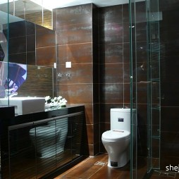 现代通透卫生间沐浴间装修效果图