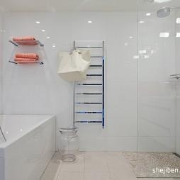 180平米两层自建别墅设计洗手间沐浴间装修效果图