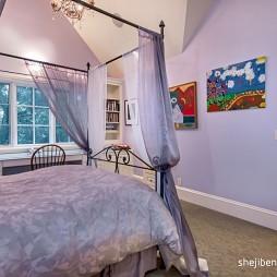 别墅设计卧室手绘挂画装修效果图