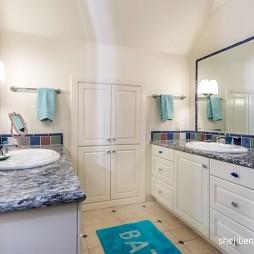 别墅设计洗手间洗手盆装修效果图