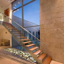 2017现代风格二居室家居豪华不锈钢楼梯护栏装修效果图