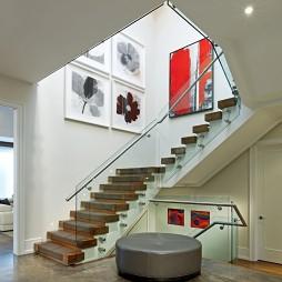 2017现代风格别墅室内精品不锈钢楼梯扶手装修效果图