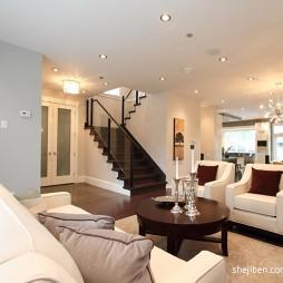 简约现代别墅设计客厅玄关楼梯装修效果图