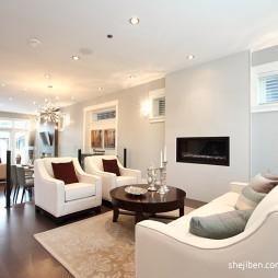 简约现代别墅设计客厅简装背景墙装修效果图