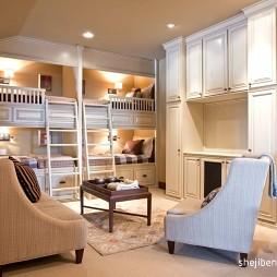 现代风格别墅儿童房实木家具设计装修效果图片