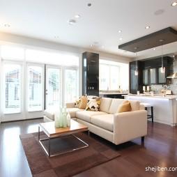简约现代别墅设计客厅厨房装修效果图