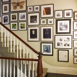 2017美式风格别墅家用精品实木楼梯护栏装修效果图