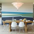 混搭风格小户型餐厅背景墙装修效果图