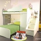2013现代风格三室一厅经典宜家双人儿童房白色墙面上下铺设计装修效果图片
