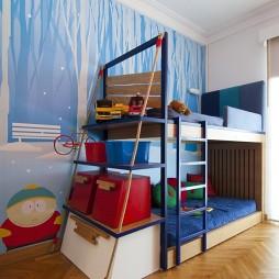 2017混搭风格三居室宜家双人儿童房液体墙装修效果图片