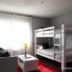 现代风格别墅经典时尚双人儿童房双层床设计装修效果图片