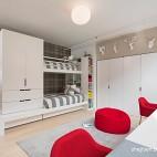 现代风格别墅经典时尚儿童房组合衣柜设计装修效果图片