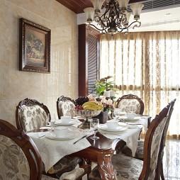 美式三室一厅餐厅装修效果图