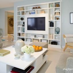 90平米最新家装客厅壁柜装修效果图
