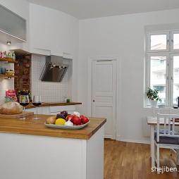现代风格开放式L型小面积家居厨房效果图片