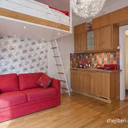 21平米小户型装修设计现代客厅壁纸背景墙装修效果图