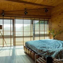 混搭风格卧室落地窗装修效果图片
