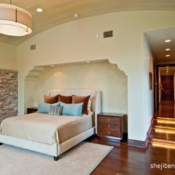 现代风格三室一厅精装80后主人房卧室装修效果图片