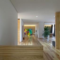 2017现代风格别墅家装室内过道装饰柜装修效果图