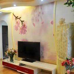 家装手绘电视墙图片