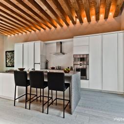 现代厨房和餐厅装修效果图