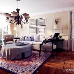 静谧庄园房屋客厅设计装修效果图