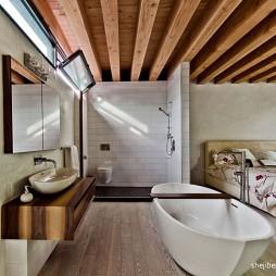 现代风格主卧室带卫生间淋浴房装修图片