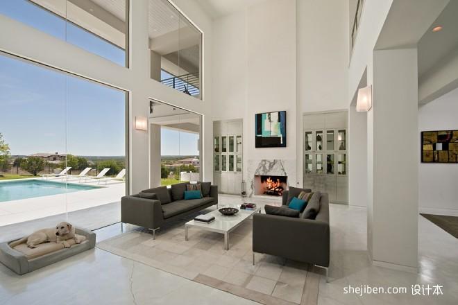 极具现代感的精美简约家居现代挑空客厅