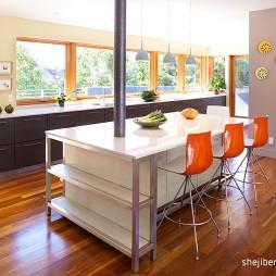 现代餐厅厨房设计装修效果图